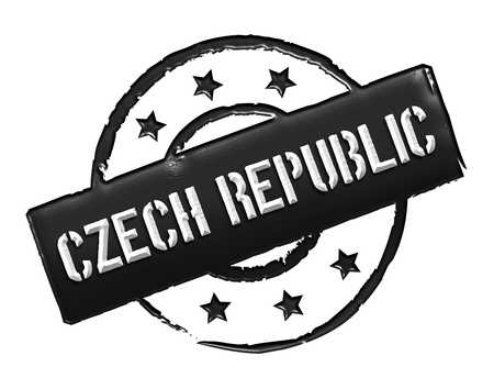 Sign and stamp named Czech Republic for your presentation, for websites and many more. Stock Photo - 13326373