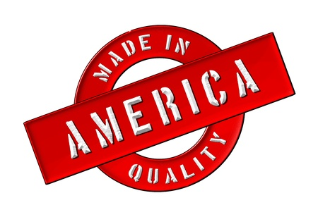 gemaakt: Made in America - Keurmerk voor uw website, web, presentatie Stockfoto