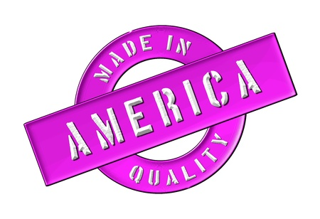 Made in America - Quality seal for your website, web, presentation Stock Photo - 13341900