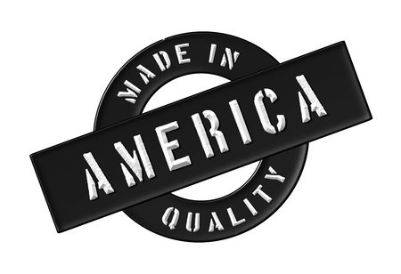 stempel: Made in America - Quality seal for your website, web, presentation
