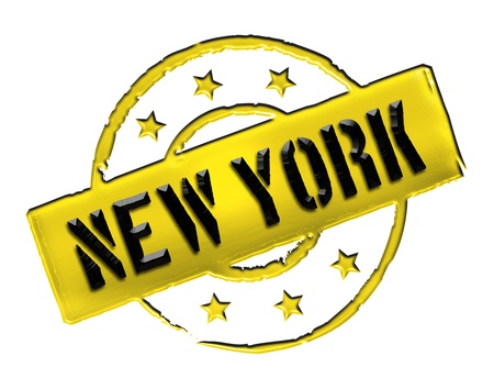 Sign and stamp for your presentation, for websites and many more named NEW YORK photo