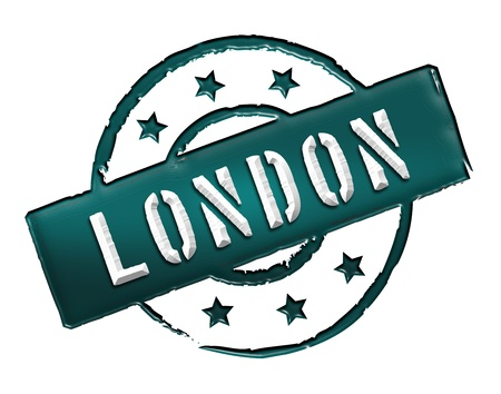 Sign and stamp for your presentation, for websites and many more named LONDON Stock Photo