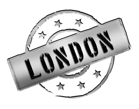 wembley: Sign and stamp for your presentation, for websites and many more named LONDON Stock Photo