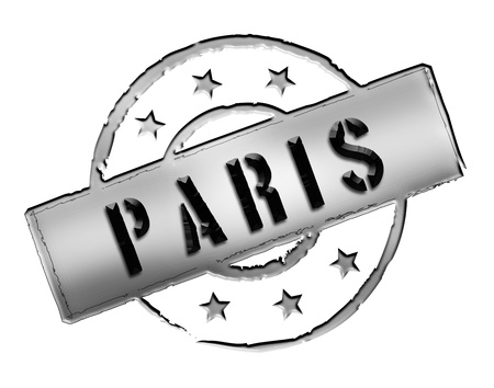 Sign and stamp for your presentation, for websites and many more named PARIS Stock Photo - 13424406