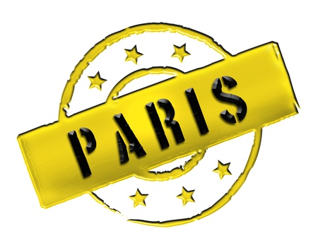 etikett: Sign and stamp for your presentation, for websites and many more named PARIS