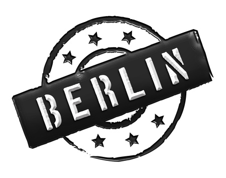 Sign and stamp for your presentation, for websites and many more named BERLIN photo