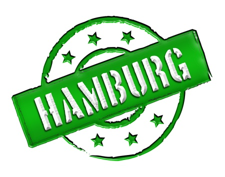 reeperbahn: Sign and stamp for your presentation, for websites and many more named HAMBURG Stock Photo