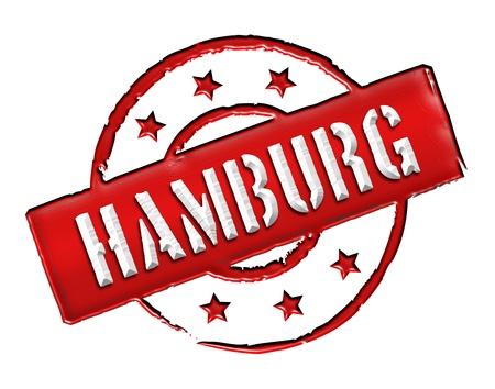 Sign and stamp for your presentation, for websites and many more named HAMBURG Standard-Bild