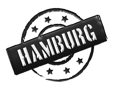 wichtig: Sign and stamp for your presentation, for websites and many more named HAMBURG Stock Photo