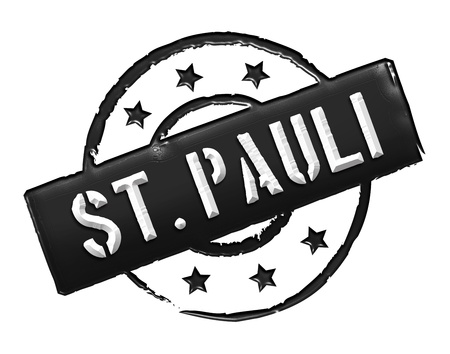 wichtig: Sign and stamp for your presentation, for websites and many more named  St. Pauli Stock Photo