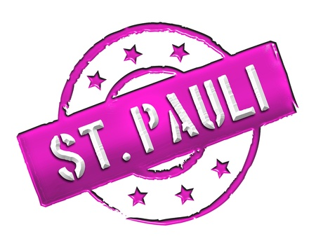Sign and stamp for your presentation, for websites and many more named  St. Pauli Stock Photo