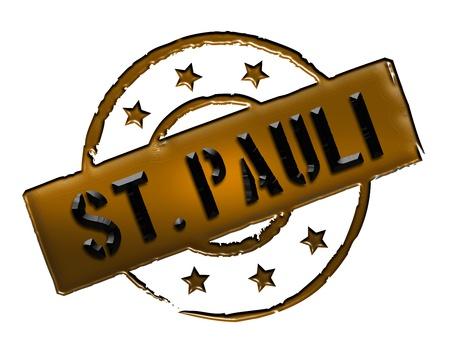 Sign and stamp for your presentation, for websites and many more named  St. Pauli photo