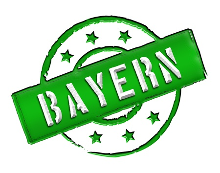 reeperbahn: Sign and stamp for your presentation, for websites and many more named  Bayern