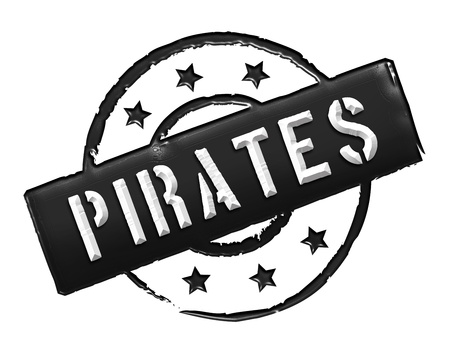 etikett: Sign and stamp for your presentation, for websites and many more named Piraten