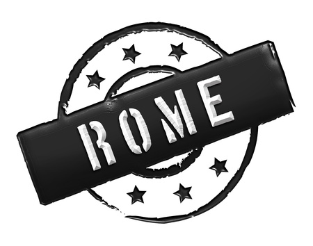 etikett: Sign and stamp for your presentation, for websites and many more named Rome