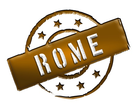wichtig: Sign and stamp for your presentation, for websites and many more named Rome