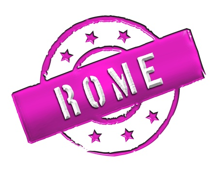 Sign and stamp for your presentation, for websites and many more named Rome photo