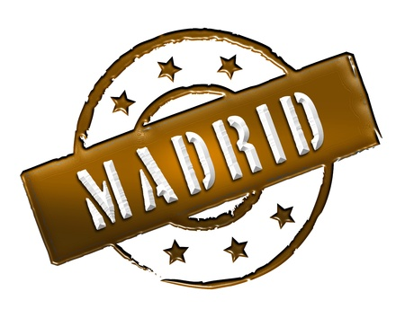 achtung: Sign and stamp for your presentation, for websites and many more named Madrid