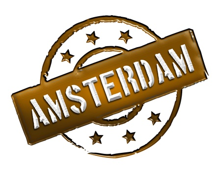 Sign and stamp for your presentation, for websites and many more named Amsterdam Stock Photo - 13445529