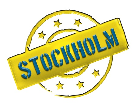 Sign and stamp for your presentation, for websites and many more named Stockholm photo