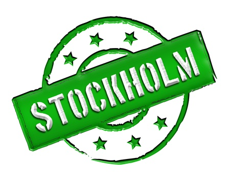 etikett: Sign and stamp for your presentation, for websites and many more named Stockholm