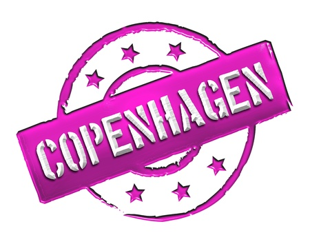 etikett: Sign and stamp for your presentation, for websites and many more named Copenhagen