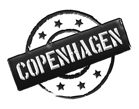 Sign and stamp for your presentation, for websites and many more named Copenhagen Stock Photo - 13445159