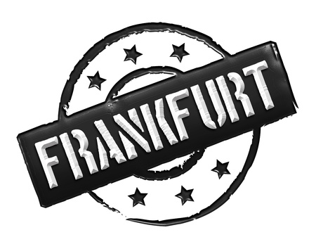 Sign and stamp for your presentation, for websites and many more named Frankfurt Stock Photo - 13445160
