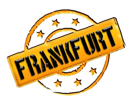stempel: Sign and stamp for your presentation, for websites and many more named Frankfurt Stock Photo