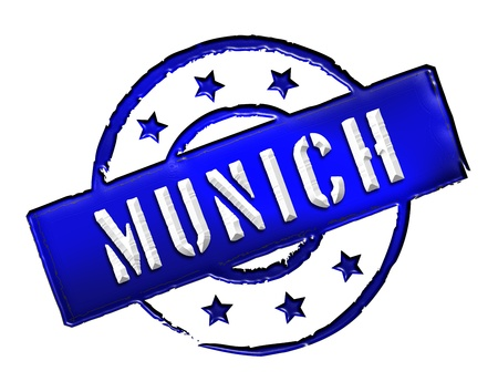etikett: Sign and stamp for your presentation, for websites and many more named München