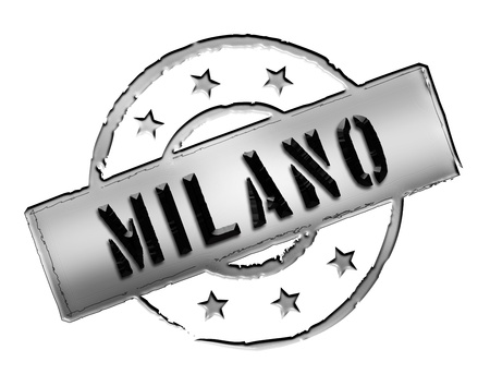 Sign and stamp for your presentation, for websites and many more named Milano Stock Photo