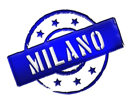 Sign and stamp for your presentation, for websites and many more named Milano Stock Photo - 13445094