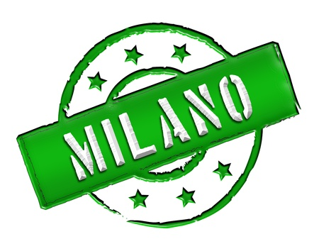 achtung: Sign and stamp for your presentation, for websites and many more named Milano Stock Photo