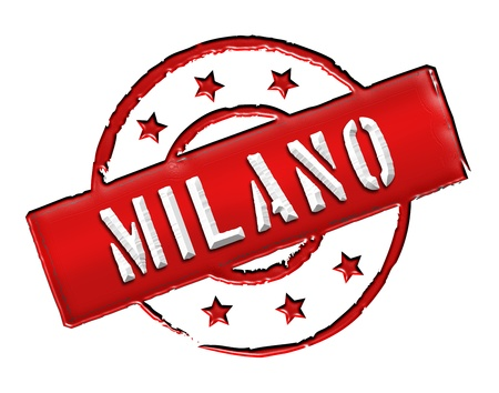 Sign and stamp for your presentation, for websites and many more named Milano photo