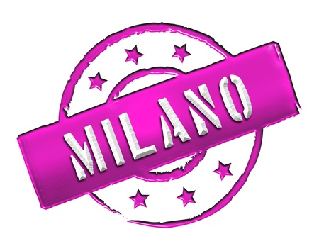 stempel: Sign and stamp for your presentation, for websites and many more named Milano Stock Photo
