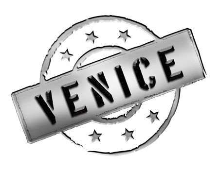 Sign and stamp for your presentation, for websites and many more named Venice Stock Photo - 13444719