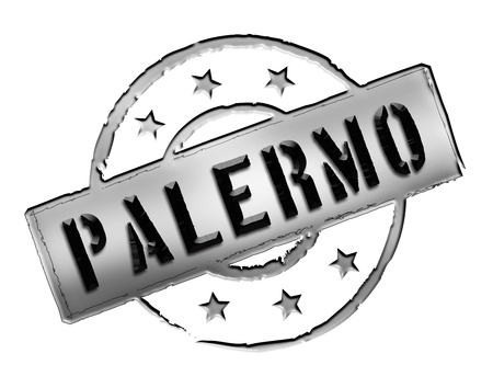 wichtig: Sign and stamp for your presentation, for websites and many more named Palermo Stock Photo