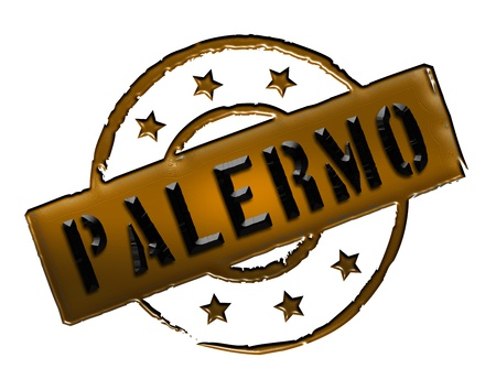 Sign and stamp for your presentation, for websites and many more named Palermo Stock Photo