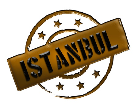 Sign and stamp for your presentation, for websites and many more named Istanbul