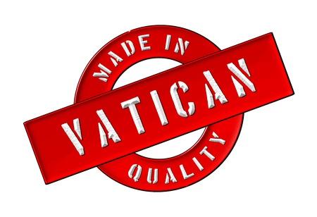 Made in Vatican - Quality seal for your website, web, presentation Reklamní fotografie