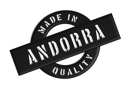 Made in Andorra - Quality seal for your website, web, presentation photo