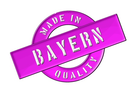bayern: Made in Bayern - Quality seal for your website, web, presentation Stock Photo