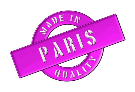 Made in Paris - Quality seal for your website, web, presentation Stock Photo - 13527690