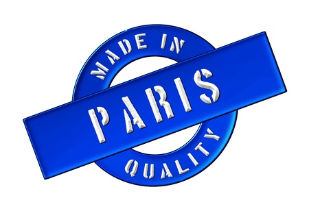 Made in Paris - Quality seal for your website, web, presentation photo