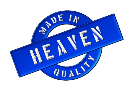 god in heaven: Made in Heaven - Quality seal for your website, web, presentation