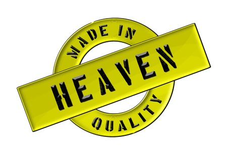 freigestellt: Made in Heaven - Quality seal for your website, web, presentation