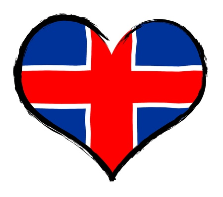Iceland - The beloved country as a symbolic representation as heart