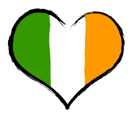 Ireland - The beloved country as a symbolic representation as heart Stock Photo - 13527764