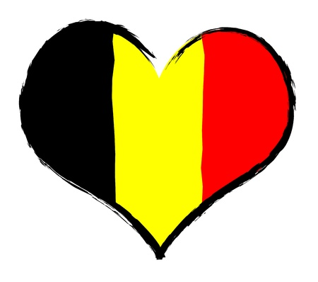 atilde: Belgium - The beloved country as a symbolic representation as heart Stock Photo
