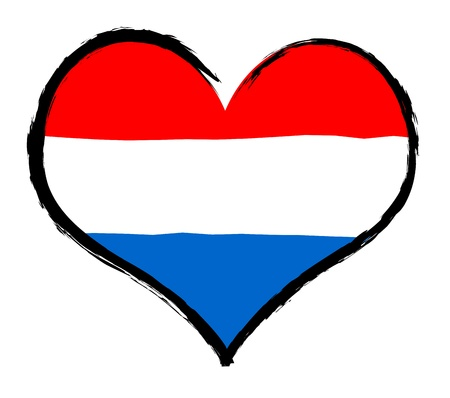 Luxembourg - The beloved country as a symbolic representation as heart